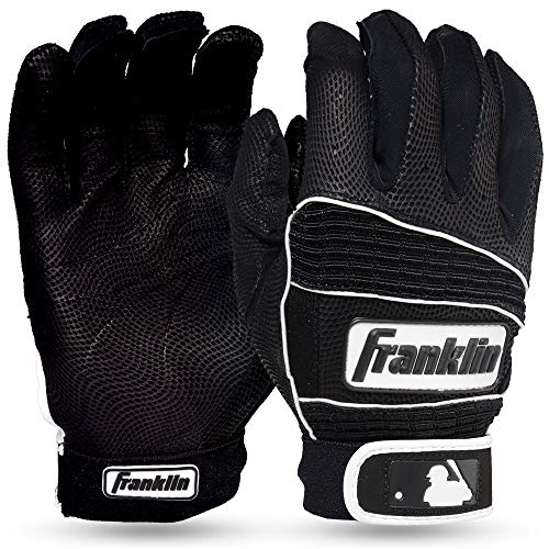 Franklin Sports MLB Adult Neo Classic II Series Batting Gloves, Black, Medium