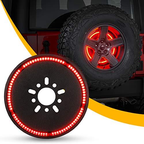 Spare Tire Brake Light Wheel Light 3rd Third Brake Light for 2018 2019 Jeep Wrangler JL JLU with Back Up ()