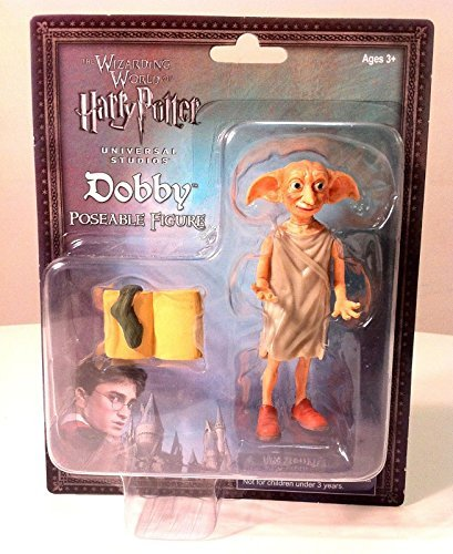 Wizarding World of Harry Potter Dobby Elf Poseable Action Figure 3 Pc. Set