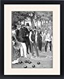 Framed Print of Match of Bowls at Crystal Palace, London, 1901