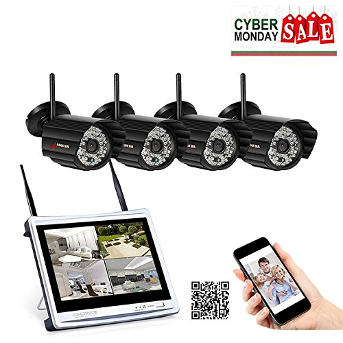 Anran Wireless Security System,hd 1080p 4 Channel Nvr Kits