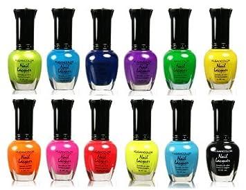 Amazon.com : Kleancolor Retro Neon Set of 12 : Nail Polish : Beauty