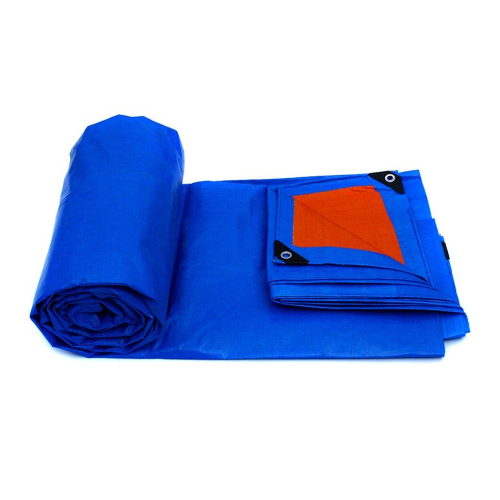YUJIE Tela Impermeabilizzata A Prova Di Vapore Impermeabile In Polietilene Panno Impermeabile A Protezione Solare In Tela, Blu + Arancio 0,32 Mm, 175 G / M2, 7 Opzioni Di Misura (dimensioni : 3 * 2) YUHUO