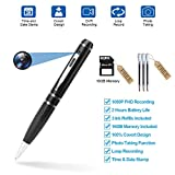 Fuvision 16GB 2K HD Spy Pen Camera Video Recorder with Loop Recording