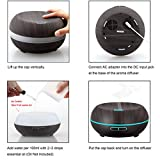 URPOWER Essential Oil Diffuser 200ml Wood Grain Aromatherapy Diffuser Ultrasonic Cool Mist Aroma Humidifier With Adjustable Mist Mode Waterless Auto Shut Off 7 Color LED Lights 4 Timer Settings