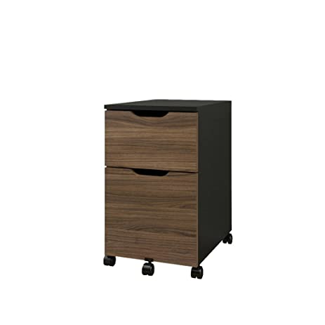 Superb Next Mobile Filing Cabinet 603236 From Nexera, Black And Walnut