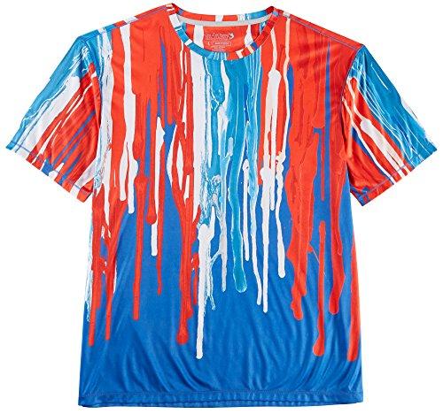 Blue Legend T-shirt - Reel Legends Mens Reel-Tec Americana T-Shirt Small Blue/red/White