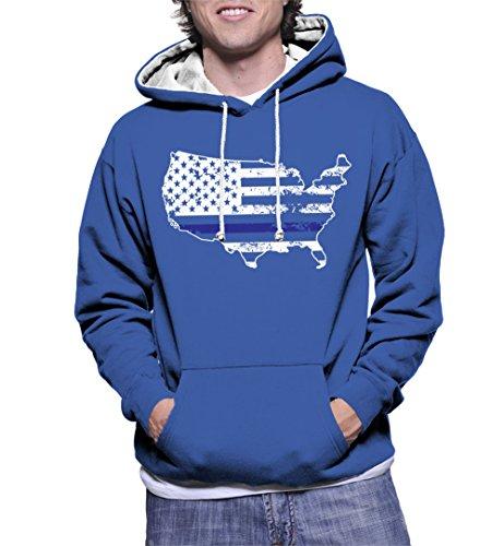 Usa Map Mens Hoodie - 1