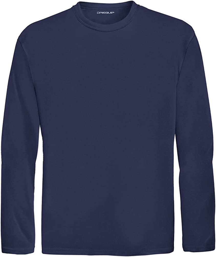 DRI-Equip Youth Long Sleeve Moisture Wicking Athletic Shirts. Youth Sizes XS-XL 51lSbbTJeBL