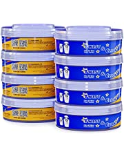 Swipply Diaper Pail Refill Bags 8 Pack Compatible with Tommee Tippee Sangenic Tec Nappy Diaper Pail Refills Twist System Extra Thick Oder Smell Blocking 7 Layers Trash Bag 2240 Count Baby Diapers Pale