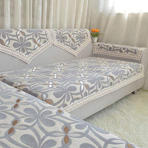 MSM Funda para sofá Flores, Botánico Imprimir 100% algodón Caterpillar Castillos hinchables, Sala de Estar Protector de...