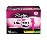 Playtex Sport Multipack Regular and Super Absorbency Compact Tampons, 36 Count