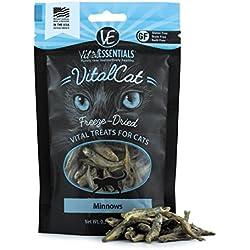 Vital Cat Vital Essentials Freeze-Dried Minnows Grain Free Limited Ingredient Cat Treats, .5 Ounce Bag