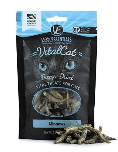 Vital Essentials 3555 Freeze-Dried Minnows Grain Free Limited Ingredient Cat Treats, 0.5 oz