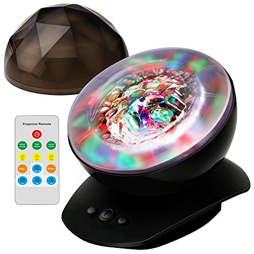 Upgraded version soaiy soothing aurora led night light projector with timer remote music - Timer night light for toddlers ...