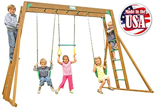 (Creative Playthings (Playtime Series) Classic Top Ladder Swing Set Made in The USA)