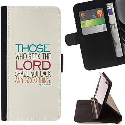 For Samsung Galaxy Note 4 IV Case , Señor Busque Significado motivación religiosa- la tarjeta de Crédito Slots PU Funda de cuero Monedero caso cubierta de piel: Amazon.es: Electrónica