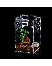 Insect Feeding Box, 12x12x20cm Acryl Reptiel Voeding Doos Transparante Reptiel Pet Fokken Case voor Spide, Hagedis, Schorpioen, duizendpoot, Gehoornde Kikker, Kever.