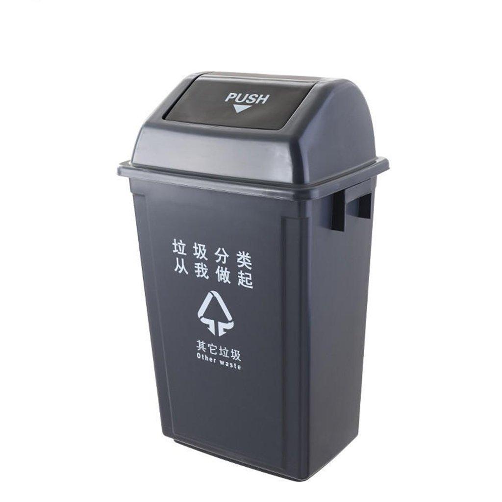 TGG 屋外のごみ箱、厚い分類プラスチックごみ箱ビジネス用具保護された衛生用のバケツリサイクル可能なゴミ箱4色のゴミ箱25-60L 清潔できちんと (色 : ブラック, サイズ さいず : 25L) B07DK8ZVB2 13499 25L|ブラック ブラック 25L