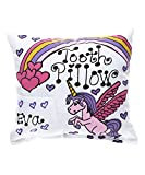 Personalized Unicorn Rainbow Tooth Fairy Pillow