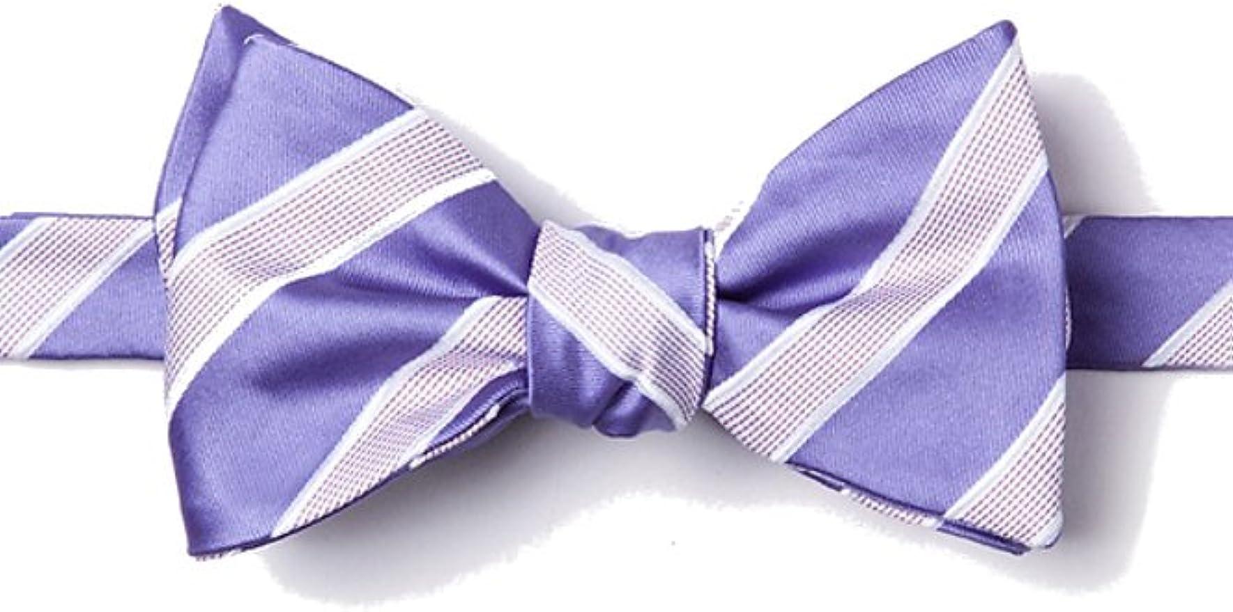 Men/'s Bowtie Sky Blue Floral Purple Black Stripes Self tied Bow Tie Striped Tie