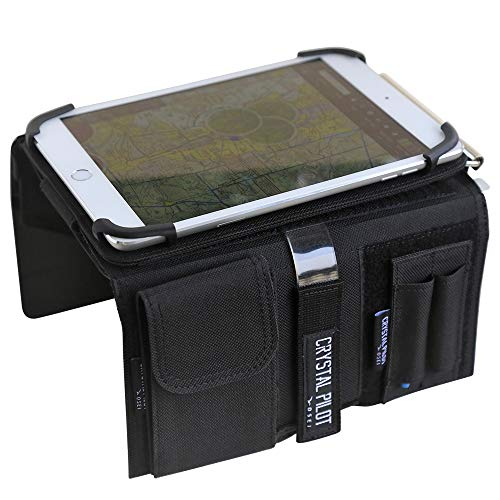 Pilot Kneeboard with Aluminum Clipboard. Compatible with 7.9 inch Apple iPad mini and Android Devices Similar in Size
