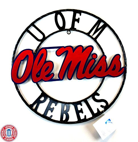 Ole Miss Rebels Officially Licensed Authentic Wrought Iron NCAA Decorative Sign