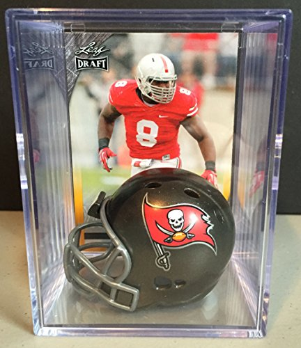 Tampa Bay Buccaneers 2016 NFL Draft Helmet Shadowbox w/ Noah Spence card
