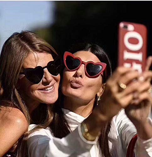 Sunglasses Bianco Rosso Heart Adewu Y Shaped 1wv1dq
