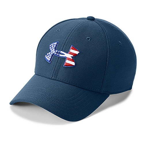 Under Armour Mens Freedom Blitzing Cap, Blackout Navy (997)/White, Small/Medium (White Camo Under Armour Hat)