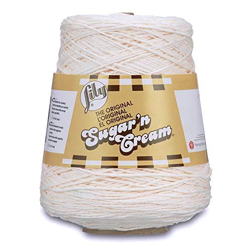 Sugar Yarn Cream N Cone - Spinrite Lily Sugar'n Cream Cone Yarn Soft Ecru ,1