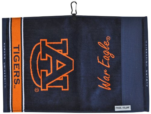 Team Effort Auburn Tigers Face/Club Jacquard Towel