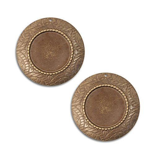 - 2 Vintaj Rosemal Bezel and Pendant , P0008, 42mm (1 5/8 inch) in Natural Brass--Use your Framelits Metal Foil, Resin, Patina, Photos and More! Great for Jewelry Making and Scrapbooking!
