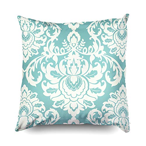 18x18 Pillow Cases,Cusion Pillow Cover,TOMWISH Zippered Decorative Throw Cotton Pillow Case Cushion Cover for Home Decor damask pattern teal baroque vector lace wallpaper western ivory elegant tile w (Lace Tile Ivory)