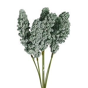 YHCWJZP 1 Bouquet Artificial Flower Simulation Plant DIY Wedding Party Holiday Decor - Dark Green 8