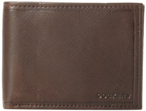 dockers-mens-fandango-extra-capacity-slimfold-wallet-brown-one-size