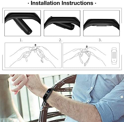 Watch Bands for Xiaomi Mi Band 5 2020,Classic Style Silicone Wristband Bracelet Watch Strap for Xiaomi Smart Band 5 (8 Pack) 5