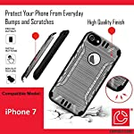 iPhone 7 Case, Capsule-Case Hybrid Dual Layer Silm Defender Armor Combat Case (Dark Grey & Black) Brush Texture… 4 Designed to Fit: Apple iPhone 7. (Please note this case will only fit regular iPhone7; NOT for iPhone-7-Plus) High Quality Silicone Rubber and Hard Polycarbonate PC Plastic Hybrid Dual Layer Case Protects Your Phone from Everyday Bumps and Scratches Easy Installation; Easy Access to All Buttons and Ports; Unique Exterior Brush Texture Finishing
