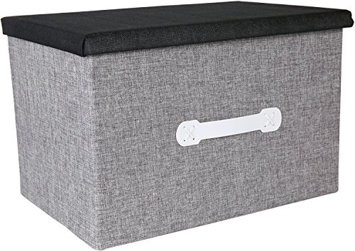 Natural Jute Jumbo Storage Box - Closet Bedroom Archival Organization - Grey