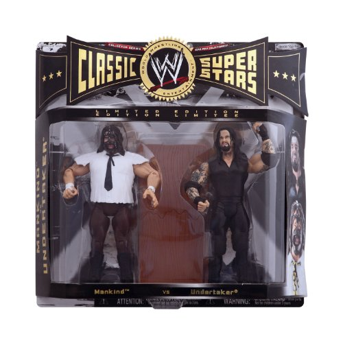 WWE CLASSIC SUPERSTARS MANKIND AND UNDERTAKER ACTION FIGURE by Jakks Pacific