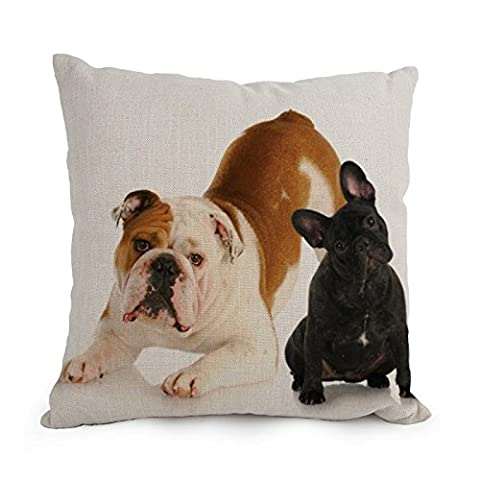 Pillowcover Of Dog Black,for Wife,kids,car Seat,teens Boys,drawing Room,gf 12 X 20 Inches / 30 By 50 Cm(double Sides)