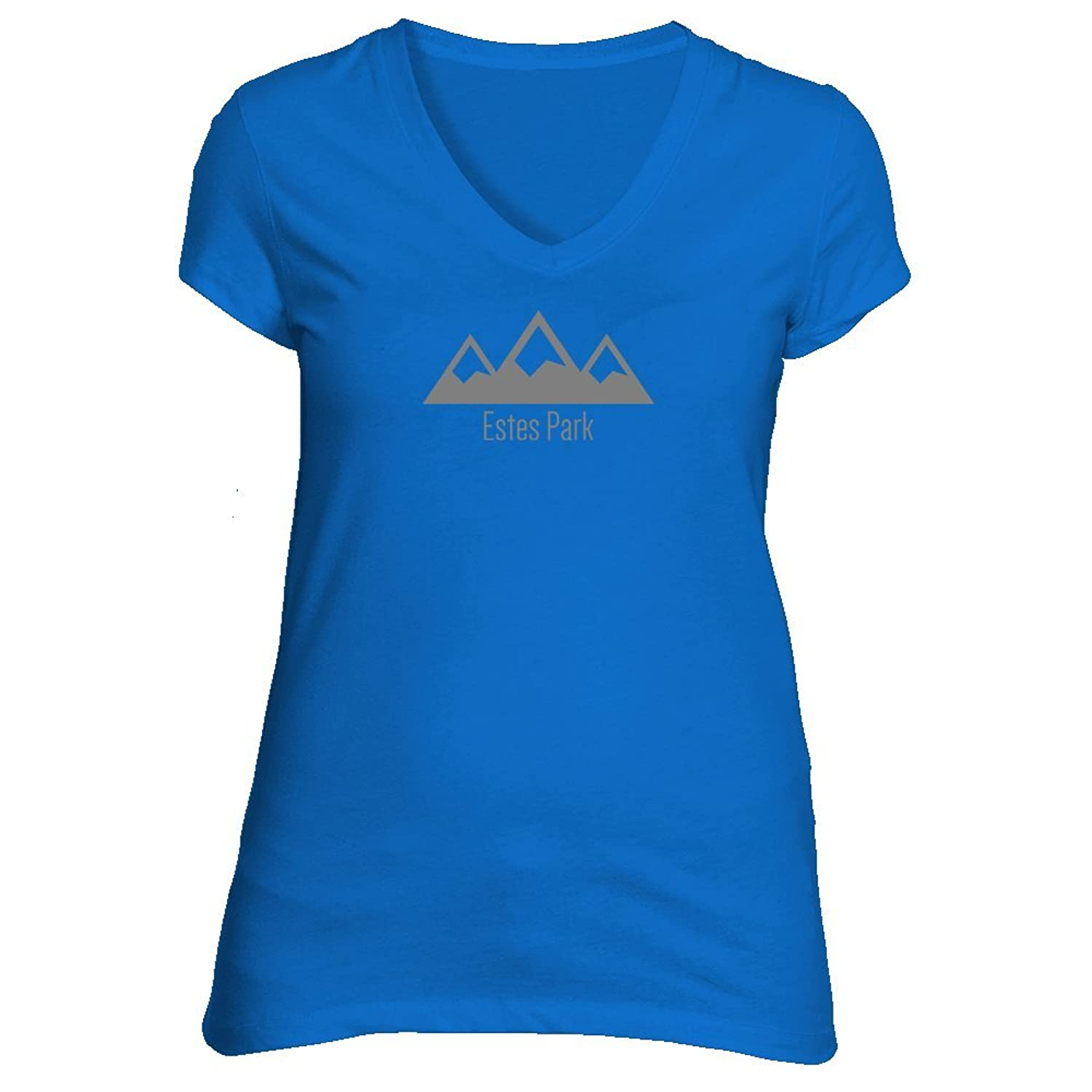 Estes Park, Colorado Snowy Mountain - Women's V-Neck T-Shirt
