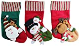Image of 3D Style Fun Christmas Stockings - Set of 3