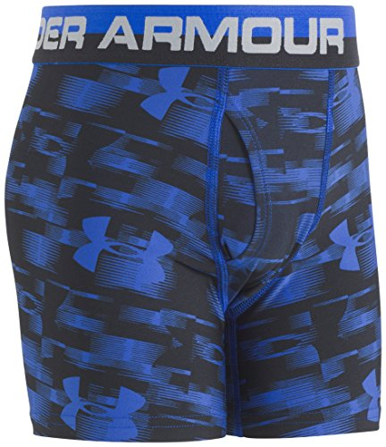 Under Armour Big Boys' 2 Pack Performance Boxer Briefs, Ultra Blue/Black, YSM by Under Armour (Image #4)