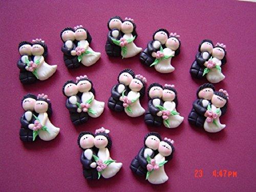 12 Imanes Boda magneto Porcelana Fria Iman handmade Matrimonio Recuerdo Regalos para invitados