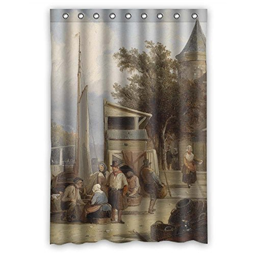 Eyeselect Polyester Shower Curtains Of Beautiful Scenery Landscape Painting For Kids Girl Artwork Bf Husband Teens. Healthy Width X Height / 48 X 72 Inches / W H 120 By 180 Cm(fabric)