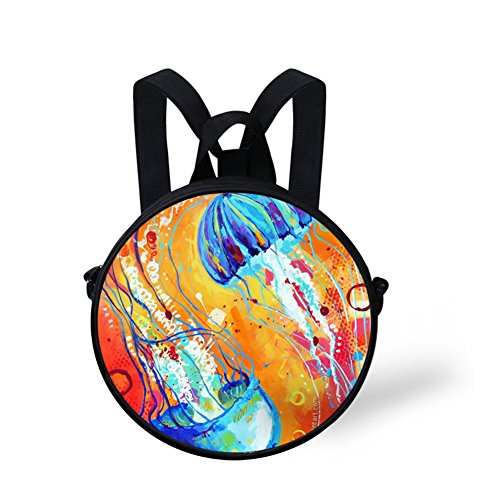 Stylish FunnyPrint Bag V6lc488i Bag Round Round Print Crossbody 7qqxATUd