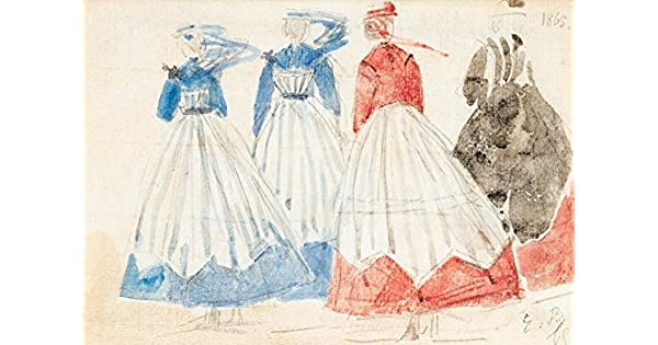 Amazon.com: The Museum Outlet - Crinolines (study), 1865 ...