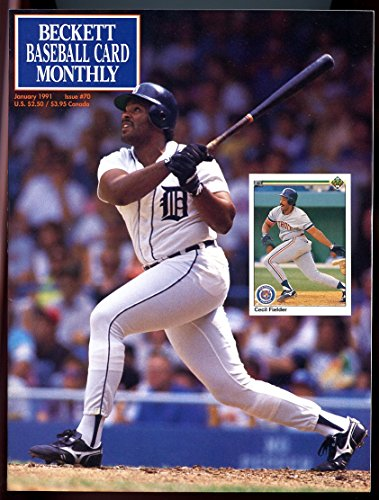 Cecil Fielder Tigers - Beckett Baseball Card Monthly #70 January 1991 Cecil Fielder Tigers VERY GOOD