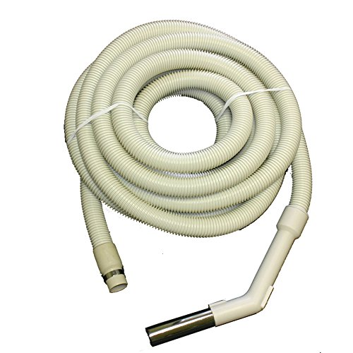 Central Vacuum Cleaner Hose Assembly 30' Length Non Electrric Crushproof Vacu-Maid/Vacuflo-Beige by All Parts Etc